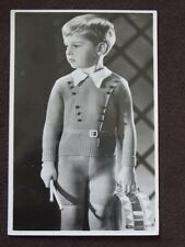 ADORABLE YOUNG BOY WEARING KNIT SWEATER & SHORTS WITH DRUM REAL PHOTO POSTCARD