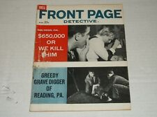 Vintage Dell FRONT PAGE DETECTIVE Volume 24 #11 March 1961