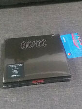 AC/DC Back in Black DELUXE BOXSET Sticker Badge Guitar Pick Keyring Tattoo NEW