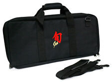 Shun 20 Pocket / Slot Knife Storage Roll / Bag / Luggage - Black