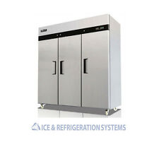 MIGALI COMMERCIAL 3 DOOR REACH IN REFRIGERATOR COOLER C-3R