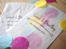 10x personalizzata di uno stile moderno confetti sacchetti per matrimoni, feste, favorisce
