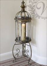 Tea Light Lantern Holder Candle Stand Style Garden Antique French Vintage Glass