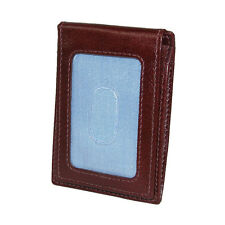 New Men's Tommy Hilfiger Leather York Front Pocket Magnetic Money Clip Wallet