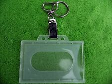 5 x CLEAR ID Card Holder & portachiavi & Clip coccodrillo per carta di carburante, l'appartenenza ecc.
