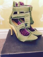 Celine Shoe/Boot In Lime & Yellow Size 39