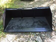 """New 72"""" Skid Steer/Tractor Snow/Mulch 6' Bucket-for Bobcat, Case, Cat & more"""