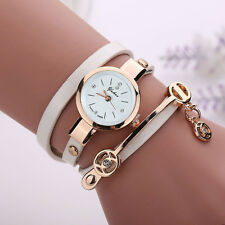 Fashion Women Men Leather Wrap Braided Wristband Cuff Punk Bracelet Bangle Gift