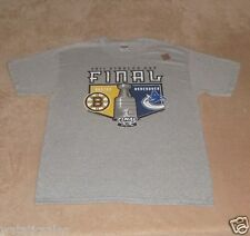 Boston Bruins vs Canucks 2011 Stanley Cup T-Shirt New Men's size Large Tee