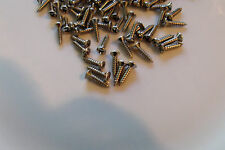 20 NEW STAINLESS STEEL PICK-GUARD SCREWS for FENDER JAZZ BASS & P-BASS BUILD