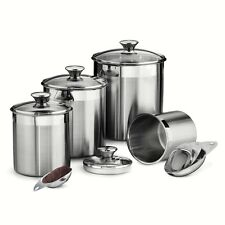 TRAMONTINA 80204/527DS Gourmet 8-Piece Canister & Scoops Set