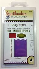 Spellbinders Shapeabilities OFFICE SUPPLIES Scrapbook Pagemaps 3-in-1 Set of 4