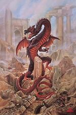 Dragon Art Pendragon Alchemy Gothic Art Aquarius Poster 24x36