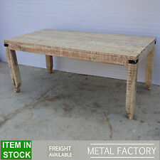 Metal Factory solid wood white Industrial Dining table dinner 8 10 seater 2m