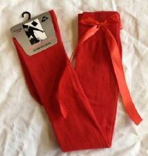 Ladies Girls Long Over The Knee Plain Socks With Matching  Satin Bows