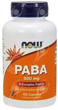 Now Foods PABA 500mg x100caps - * HAIR - SKIN - NAILS *