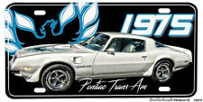 1975 455-HO Pontiac Trans Am Aluminum License Plate