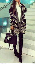 Zara size M ethno Jacquard Cardigan Jacket Fringes poncho kimono veste franges