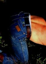 Shirtless Male Bending Down in Jeans Cowboy Back Side Shot  PHOTO Pic 4X6 C1735