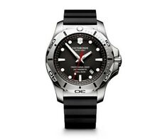 New! Victorinox Swiss Army Inox Pro Diver Rubber Strap Men's Watch 241733.1