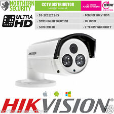 Reino Unido Hikvision ds-2cd2232-i5 3mp 4mm 1080p 50m Ir ONVIF Exir Red Ip Poe Cámara