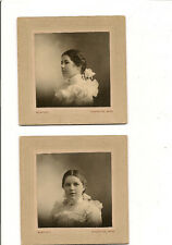 Two Beautiful images of perfectly plump young lady; Wortley photo Houghton Mi.