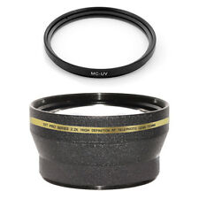 72mm 2.2x Telephoto Lens + MCUV Filter for Sony SLT-A77 A77 HXR-NX5U HVR-Z5U Z7U