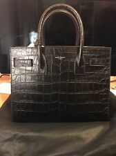 GENUINE YSL Baby Sac De Jour Black Croc Embossed