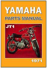 YAMAHA Parts Manual JT1 & JT1L 1971 & 1972 Replacement Spares Catalog List