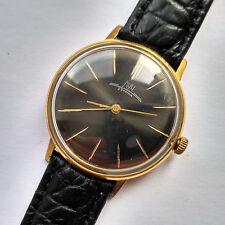 RARE! Beautiful Luch 23 Jewels Ultra thin USSR Wrist watch. Gold Plated AU 12.5+