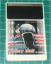 SUPER VOLLEYBALL (1990) pc engine hucard volley ball NTSC JAPAN IMPORT