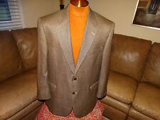 JOSEPH A BANK mens 44 reg silk camel hair blazer sport coat excellent black tans