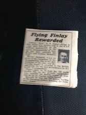 M9-2 Ephemera 1938 Article Flyer D O Finlay Hurdles Athlete