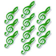 10pcs Green Plastic Music Book Page Clip Book Note Clip Treble Clef Clip