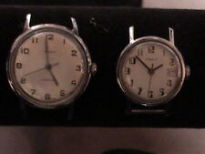 2 vintage timex automatic watches both work both need bands