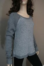 Junior's Gilly Hicks Gray And Silver Sweater Size Large