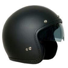 CASCO ONE OLD NERO OPACO CAFE RACER CUSTOM JET VISIERA A SCOMPARSA TG L