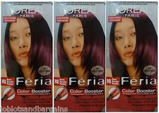 3 x Loreal Paris Feria Color Booster P48 Pure Purple Power-Tinte de Cabello colorante