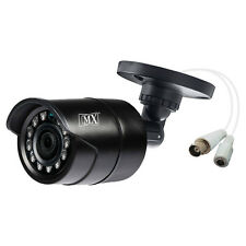 MX CCTV Camera Analog Outdoor Bullet 950tvl 3.6mm Lens 12 Ir Led -DIS 95OB-Black