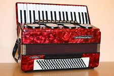 Weltmeister Stella 120 Bass LMMH Accordion Akkordeon Fisarmonica Red