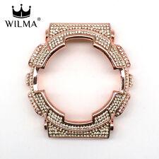 WILMA Chrome Rose Gold Bling Metal Bezel x Jonquil G-Shock GA-110 C-110-3G11