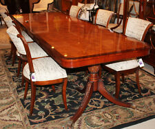 Gorgeous Burled Walnut Narrow Width 38 in 9FT English Regency Dining Table Rare