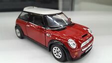Mini Cooper S Red Car Model TOY 1/28 scale model diecast Car present gift