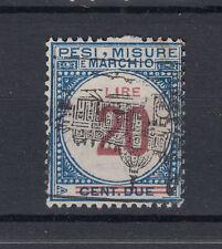 1920 MARCHE DA BOLLO TASSA LUSSO E SCAMBI 20 LIRE I SEZIONE USATA