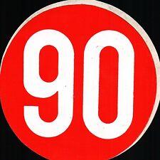 ADESIVO VINTAGE LIMITE DI VELOCITA' 90 KM ORARI - FIAT 500 ALFA LANCIA C5-783