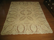 "vintage Quaker Lace tablecloth  great design 63"" by 88"""