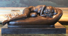 Botero Nude Sleeping Beauty Sensual Woman Artwork Art Deco Bronze Marble Statue