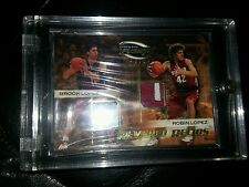2009 Press Pass Fusion Brook & Robin Lopez Dual Patch Card #/99 Stanford