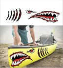 SHARK TEETH MOUTH DECAL gill slits STICKER KAYAK CANOE HOBIE DAGGER OCEAN boat