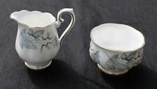 Vintage ROYAL ALBERT Bone China England SILVER MAPLE Set Mini Creamer Sugar Bowl